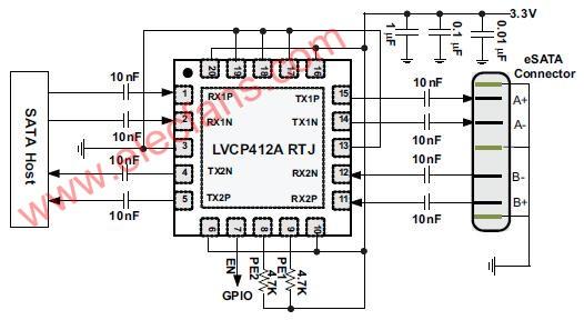 SATA/eSATA接口驱动电路