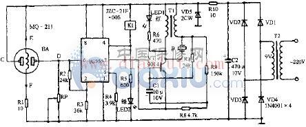 玉立牌CST-8-170型抽油烟机自动监控电路