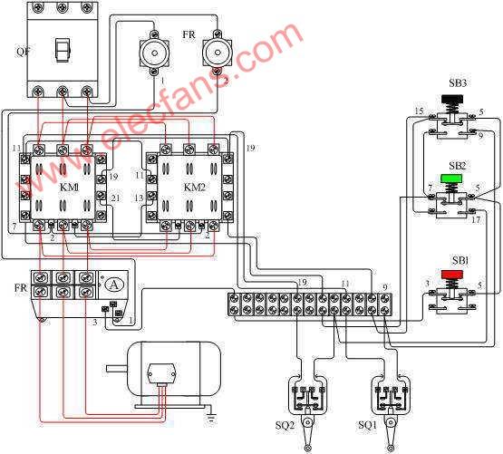 实物 电机 正反 接线 三相/三相电机正反转实物接线图