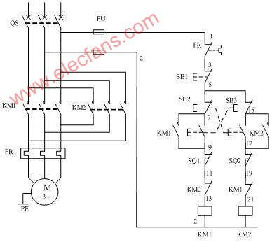 转接 电路图 电机 正反 三相/三相电机正反转接线电路图