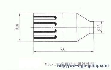 MSC-1/2型湿敏电阻器