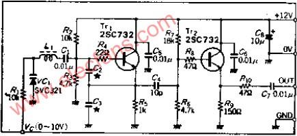 3M-30MHZ高频压控振荡(VCO)电路图