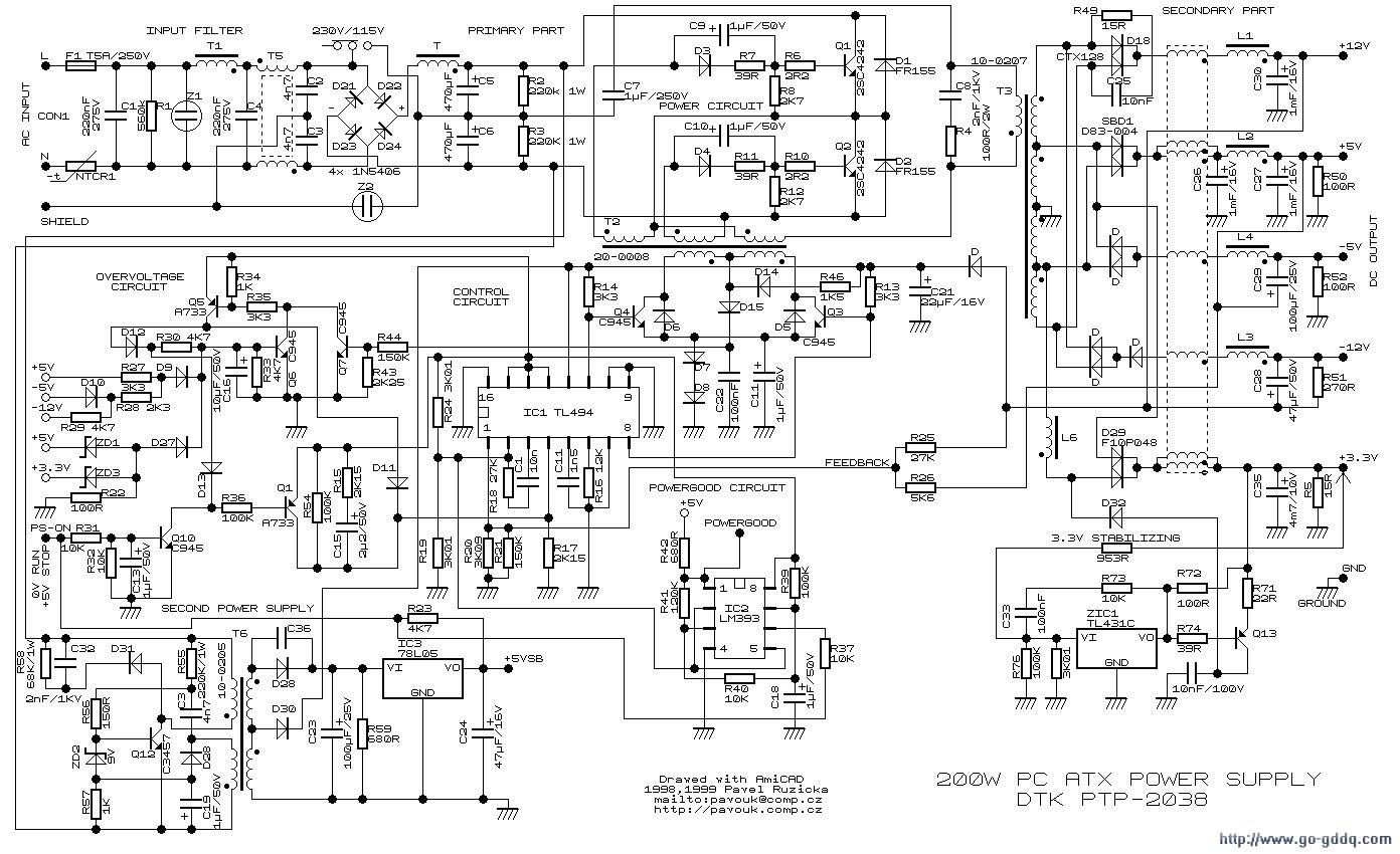 长城ATX-300P4电源图纸