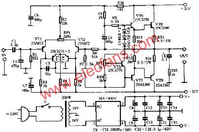 8W电子管功率放大器电路图 -功率放大器图片