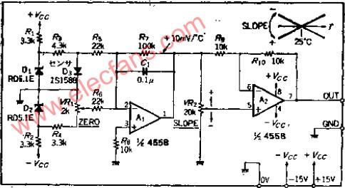 40V转正负15V稳压电源电路 -正负