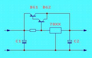 三端稳压器 LM7805,LM317 扩流电路图图片