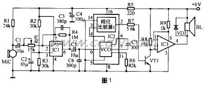 手提式扩音器电路及工作原理