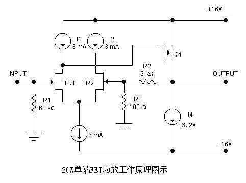 20W-50W场效应管单端甲类功放电路设计