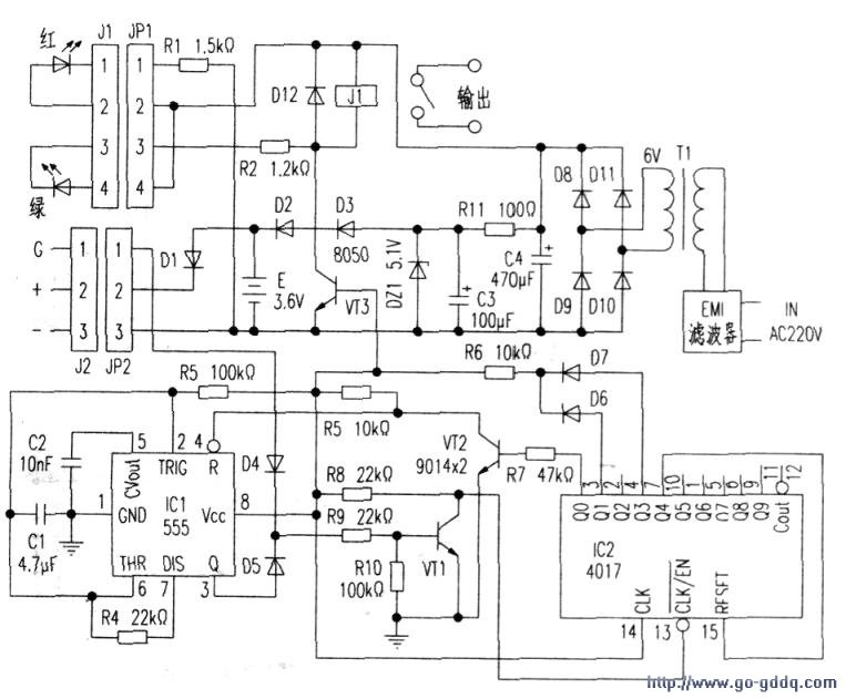 电子大屏自动开/关机电路