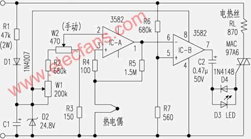 55组成的直流低压稳压电源电路 -关键词 低压图片