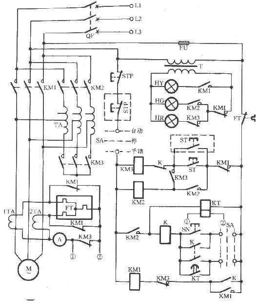 jj1b-75自耦降压启动器电路图