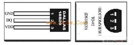 DS18B20引脚图及特点