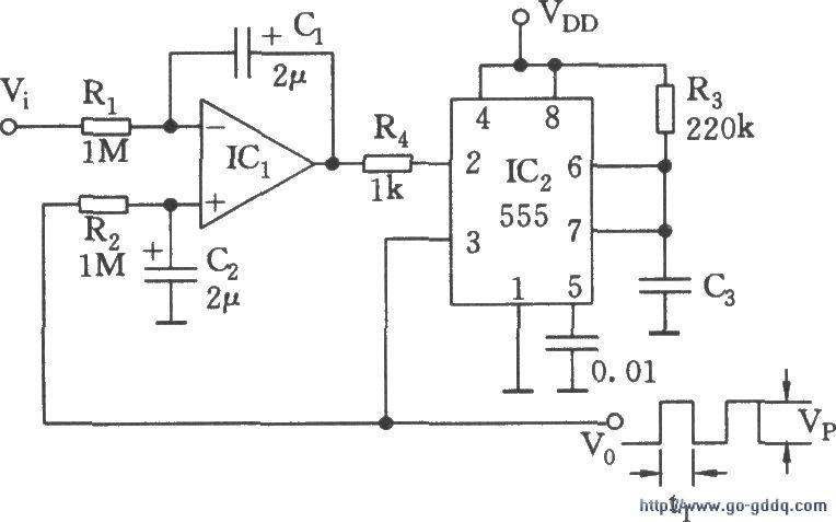 线性电压/频率转换电路(555)