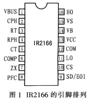 IR2166d引脚图及引脚功能描述