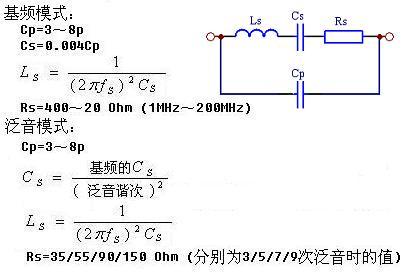 石英晶体谐振器基本电路及原理