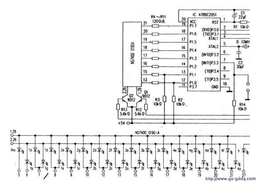 采用LED动态显示屏作显示设备的计时器电路