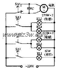 司达SK-11型浴室取暖灯电路图