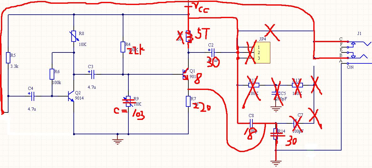 有线到fm转换方式_电路图