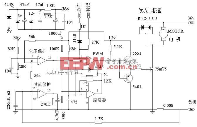 电动车控制器的分类命名及通用模块电路结构参数和典型电路
