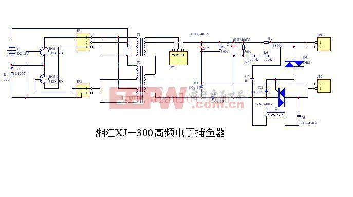 湘江XJ-300高频电子捕鱼机电路