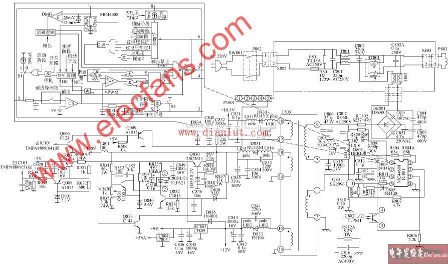TCL-S21机心彩色电视开关电源电路