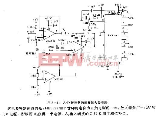 AD转换器的前置放大器电路