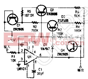 带温度补偿断点的非线性运算放大器电路图
