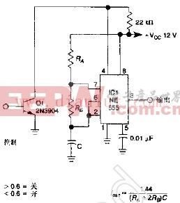1KHz门振荡器电路图(常开)