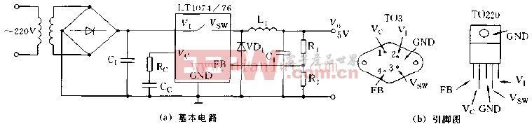 LT1074 LT1076的基本应用电路图