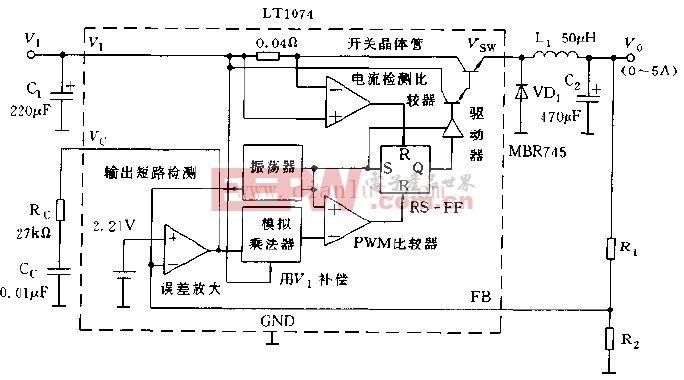 LT1074的基本使用方法电路图