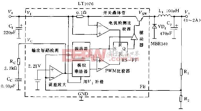 LT1076的基本使用方法电路图
