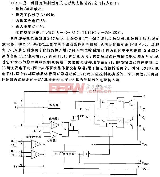 TL494内部等效电路图