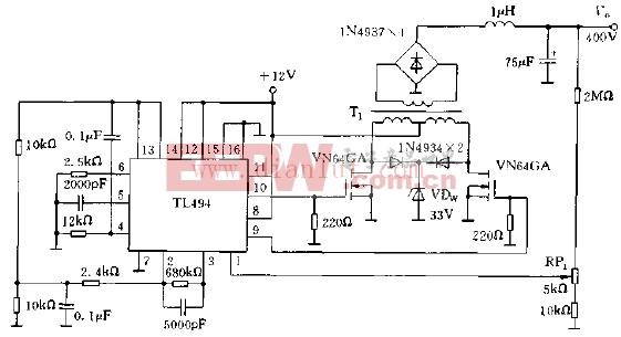 用TL494构成的高压电路