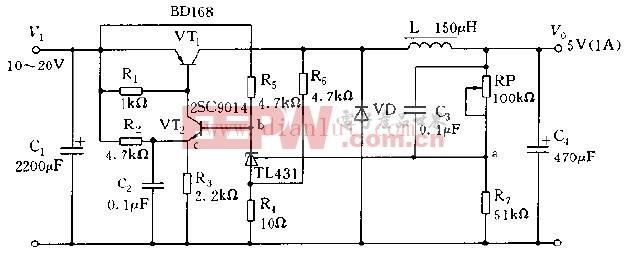 采用TL431构成开关稳压电源电路图