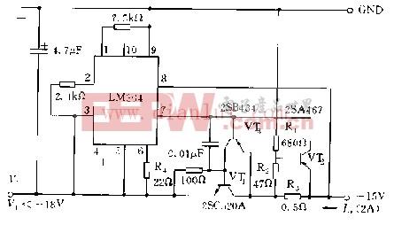 设有7字型过流保护回路的稳压电源电路
