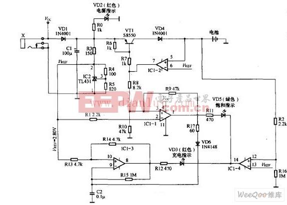 自制镍氢电池充电器电路图
