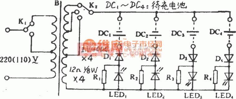 金宝牌BC-60型多用充电器电路图
