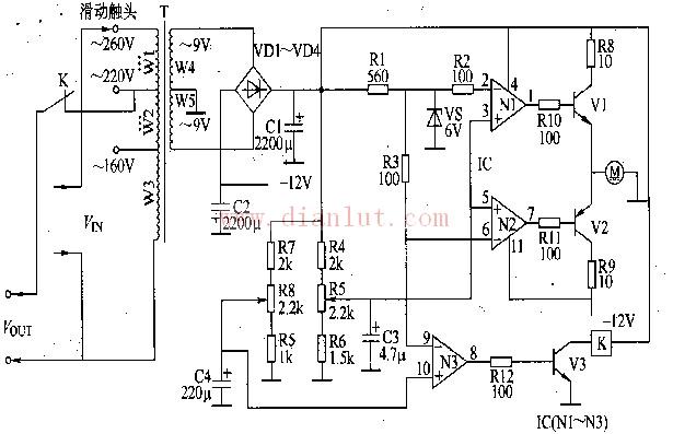 交流稳压器电路图 十二图片