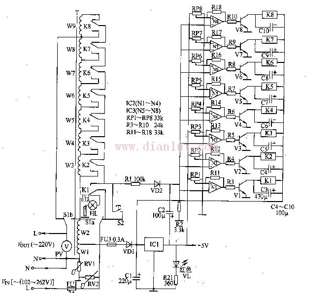 交流稳压器电路图 十图片