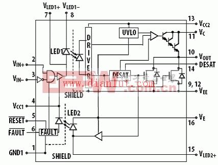 ACPL-38JT功能方框图