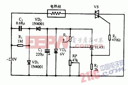 tl431制作恒温控制器电路