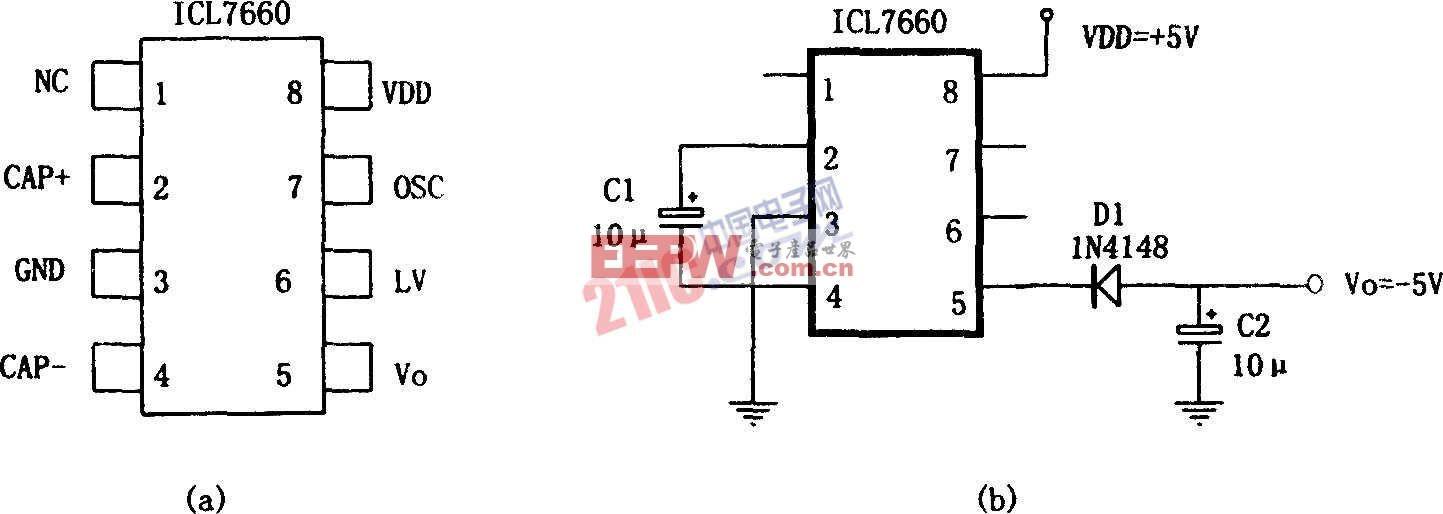 极性变换电源ICL7660