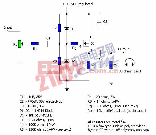 MOSFET A类放大电路