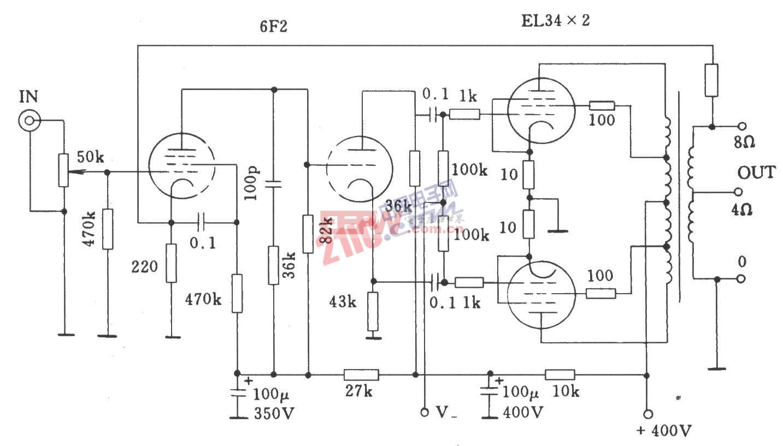 电子管Dynaco ST70功放电路