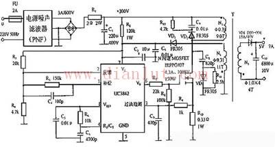 uc3842构成的开关电源电路