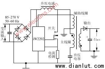 iW2202应用电路,iW2202组成的电子镇流器电路