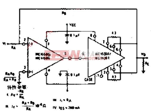 反相功率放大器电路图