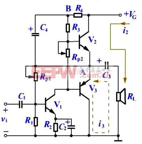 互补对称式OTL功放工作原理及电路图图片