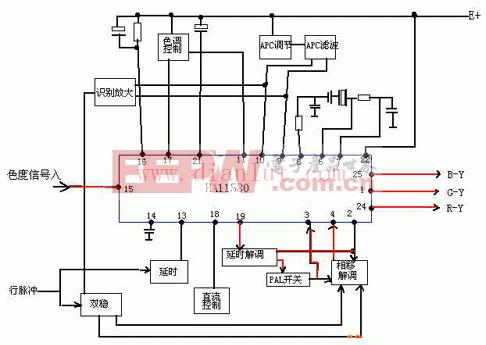 HA11580组成的集成电路