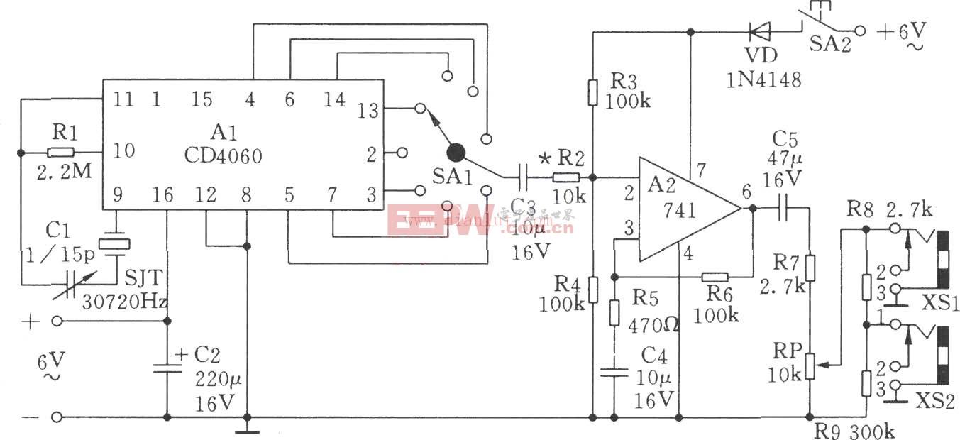 低频信号发生器原理及电路图(2Hz、4Hz、60Hz、120Hz等)